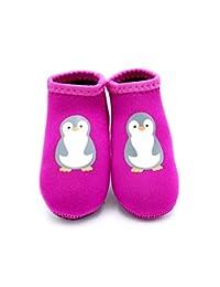 MAKO Infant Born2Play Water Swim Beach Shoes (S (Sole Length 12CM, 12-18 Months), Pink Penguin)