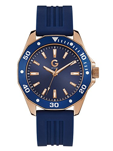 G-by-GUESS-Mens-Blue-and-Gold-Tone-Watch