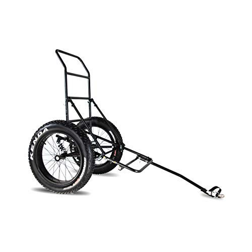 """QuietKat Two Wheel Game Cart, FatTire Off Road Cargo Trailer for Extra Storage While Hunting, Fishing, Exploring Backcountry, Three-Way Adjustable Rack Angle (20"""" x 4"""" Wheels/Tires)"""