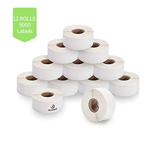NEXTPAGE Compatible Dymo 30332 Shipping Label Roll 1 x 1 (25.4mm25.4mm) 750 Labels Per Roll 12 Rolls