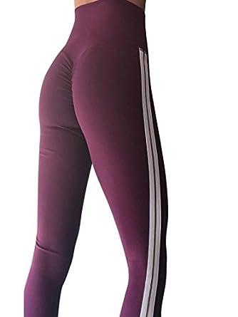 WINJIN Pantalon de fitness pour Femmes Moulante Flexible Leggings de Sport  Impression Vêtements de Danse Hanche 81e8ef2a1ad