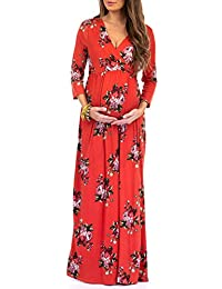 9aca8059370e Women s Wraped Ruched Maternity Dress - Made in USA