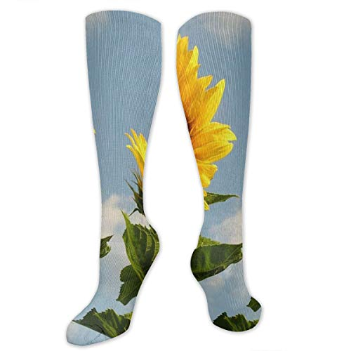 Compression Socks Sunflowers Designer Girls Winter Sock Decor Tight Stocking For Womens Men Boys -