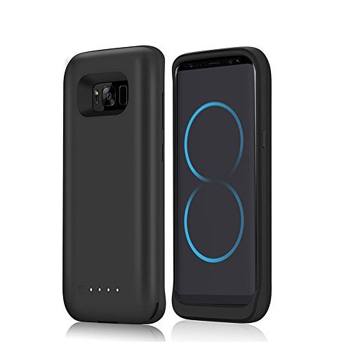 Galaxy S8 Battery Case,5000mah mobile External Backup Charging predicament Charging Battery Pack for Samsung S8 Rechargeable Extended vitality Bank predicament (Black)