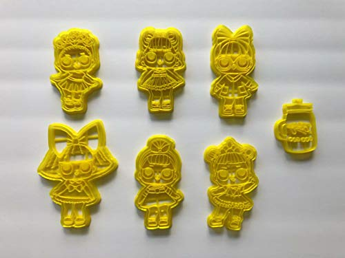 7 L.O.L Surprise Dolls Cookie Cutters 5