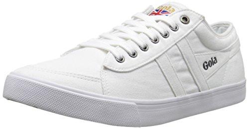 Gola Men's Comet Canvas Fashion Sneaker, White,UK 11/US 12