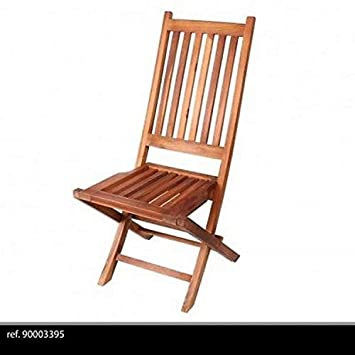 Chaise Teck Design Luxe Pliante Pliable Bois Jardin EXTERIEUR 100 X 45 CM