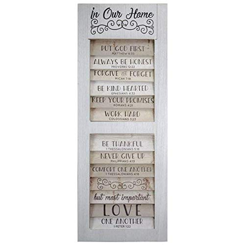 (Gracie Oaks Shutter Window Hanging Wall Décor Manufactured Wood, White and Beige )