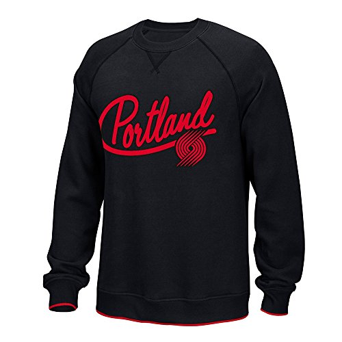 Adidas Classic Crew Sweatshirt (adidas Portland Trail Blazers NBA Black Originals Classics Team Logo Fleece Crew For Men (S))