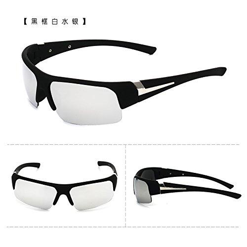 les brise - vent les bicyclettes motocyclettes lunettes de soleil les lunettes de soleil les lunettes de déquitation des lunettes de soleil les hommes et les femmes tide boîte noire white mercure (tissu)