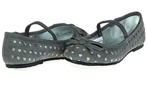 Chatties Toddler Girls Microsuede Ballet Flats Size 7/8 - Grey