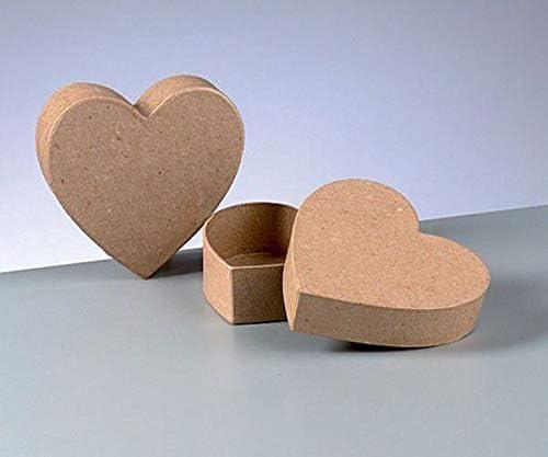 Caja De Cartón Cuadro De Corazón, Efco, Decoupage Cajas, Los Sujetos, La Afición Colores: Amazon.es: Hogar