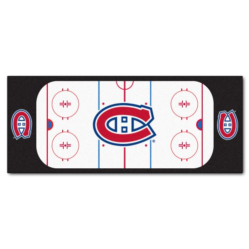 FANMATS NHL Montreal Canadiens Nylon Face Football Field Runner - Montreal Canadiens Rink