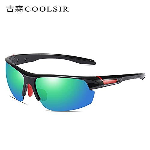 Black de 1 sunglasses nbsp;Deportivas Sol box Gafas nbsp; Gafas Mjia Coloridas Espejo Hombre Caja Sol de Gafas de Gafas polarizadas Deportivas Negra polarizadas 1 gfxwnq1dX