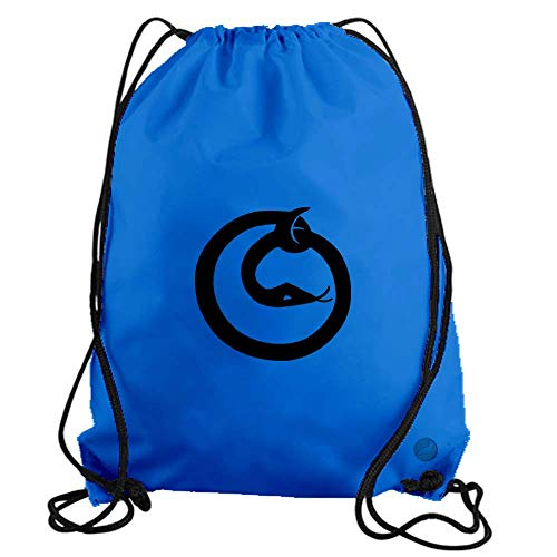 Uroboros Snake Drawstring Gym Bag workout cinch nylon backpack (light blue) b14408
