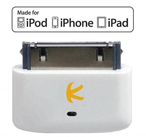 KOKKIA i10s (Luxurious White) Tiny Bluetooth iPod Transmitter for iPod, iPhone, iPad, iPod Touch. (Ipod Classic Generation 1)