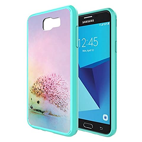 Galaxy J7V / J7 Sky Pro Case, Galaxy J7 Perx Case, Capsule-Case Hybrid Slim Snap-on Case w/ TPU Edges (Teal) for Samsung Galaxy J7 2017 J7 V / J7 Sky Pro / J7 Perx - (Snap On Cell Phone Cases)