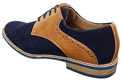 Décontracté Bout Marron Daim Cuir Lacets Noir Simili Homme Chaussures Bleu Rond Style Et Chic Marine Pu wgzRv