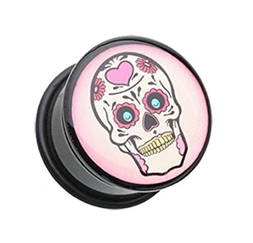 sugar skull plugs 0g - 8