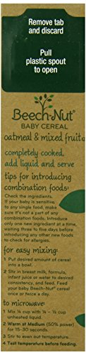 Beech-Nut Good Morning Cereal, Oatmeal and Mixed Fruit, 8 Ounce (Pack of 8)