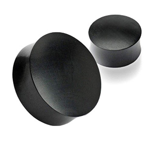 Covet Jewelry Black Areng Wood Saddle Fit Solid Organic Plugs (1.08
