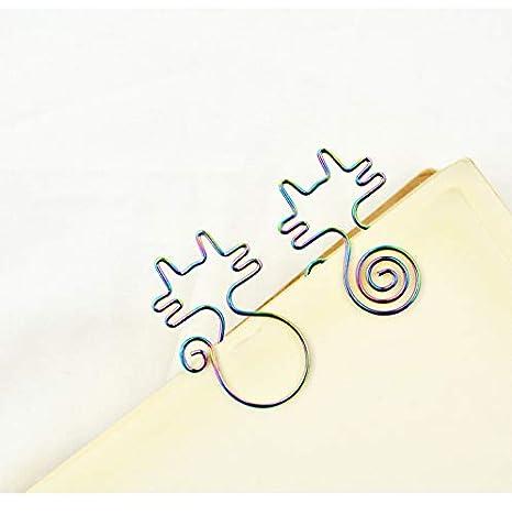 31MM BIGBOBA 8pz Graffette Forma di Gatto Carino Colorate Decorative Fermagli Accessori per Ufficio 1.0 28