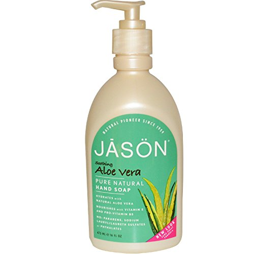 Jason Natural Products Aloe Vera Liquid Satin Soap, 16 Ounce – 6 per case.
