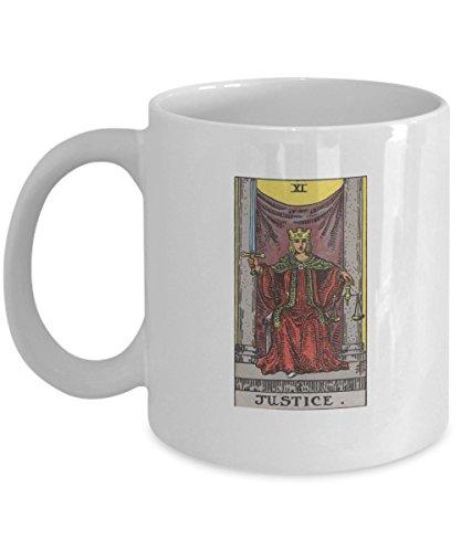 - Justice Tarot Card Coffee & Tea Mug