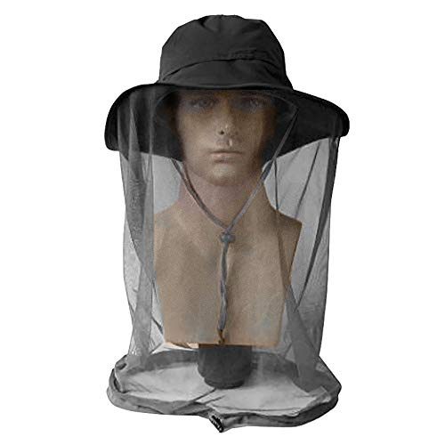 AYAMAYA Mosquito Insect Net Hat Men/Women, Outdoor Summer Sun Protection Netting Bucket Boonie Hat Netting Protection from Bug Bee Gnats Face Neck Shield for Fishing Camping Safari Hunting (Best Fly Fishing Hat)