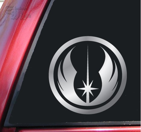 Star Wars Instruction - ShadowMajik Star Wars Jedi Order Vinyl Decal Sticker (4 Inch, Shiny Chrome)