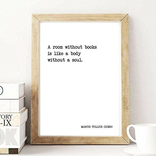 A Room Without Books - Marcus Tullius Cicero - Literature Quote Print - Motivational