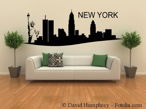 XL Wandtattoo Wandaufkleber Skyline NEW YORK 165x60cm: Amazon.de: Küche U0026  Haushalt