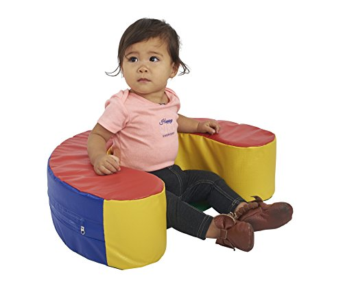 ECR4Kids SoftZone Sit and Support Ring Baby Floor Seat, Primary
