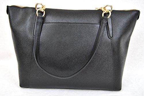 COACH Crossgrain Ava Tote Shoulder Bag Black - Import It All dd6b2c3d000a9