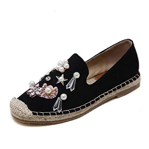 Zapatos Rhinestone De TWGDH Slip Mujeres Bombas Alpargatas Mocasines Rebordean C Que On Las RIxREtTw