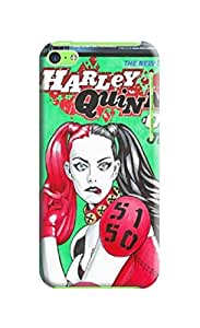 New color cool tpu clear back hard cover with texture for iphone5c(Marvel Comic Harley Quinn) by Shari Flanders