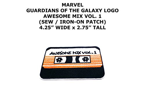Marvel Comics Guardians of the Galaxy Awesome Mix Super Hero DIY Embroidered Sew or Iron-on Applique Patch Outlander Gear