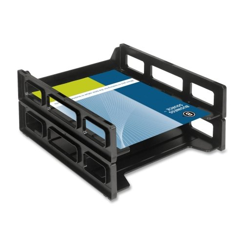 Wholesale CASE of 25 - Bus. Source Front-Load Letter Tray-Letter Tray,Front Load,Stackable,10-1/2