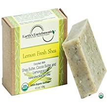 Bar Soap (USDA Organic) Lemongrass, Shea Butter, Coco Butter - Pure, Moisturizing Coconut Oil and Healing Aloe Vera