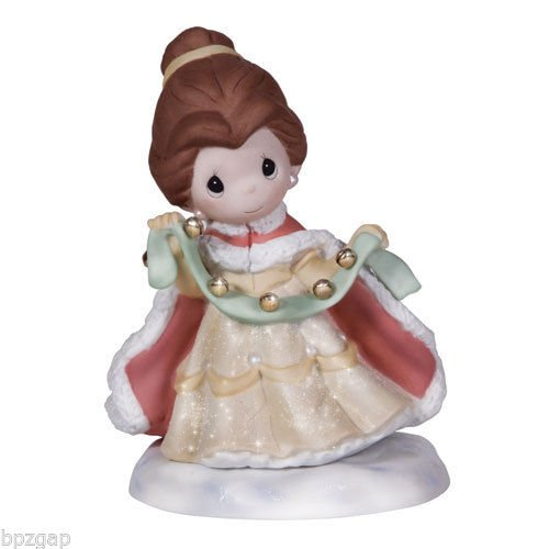 """Precious Moments, Disney Showcase Collection, Christmas Gifts, """"Your Love Rings True"""", Bisque Porcelain Figurine, 131039 (Princess Porcelain)"""