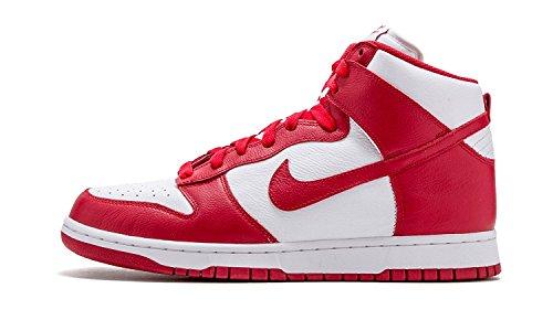 Nike Dunk Retro Qs Heren Hi Top Sneakers 850477 Sneakers Schoenen Wit / Universityred