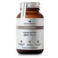 Wild Nutrition Food-Grown Zinc Plus Vegicaps 30