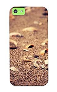 High-quality Durable Protection Case For Iphone 5c(broken Shells In The Sand ) For New Year's Day's Gift