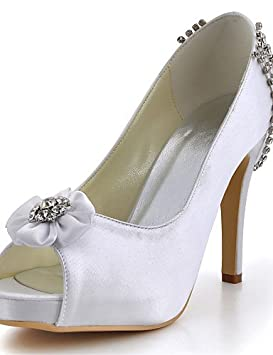WSS 2016 Zapatos de boda-Tacones-Tacones / Punta Abierta-Boda / Vestido