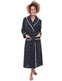 Del Rossa Women's Cotton Robe, Lightweight Woven Bathrobe