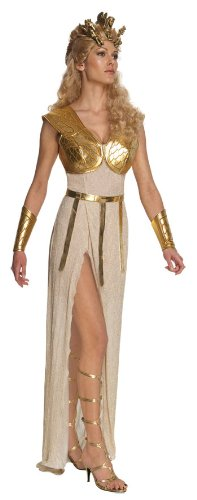 [Secret Wishes Women's Clash Of The Titans Adult Athena Costume, Gold, Medium] (Grecian Sandals Costume)
