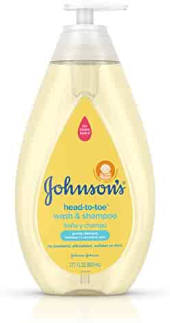 Johnson's Head-to-Toe Gentle Baby Wash & Shampoo, Tear-Free, Sulfate-Free & Hypoallergenic Wash for Baby's Sensitive Skin & Hair, 27.1 fl. oz