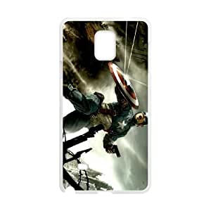 Captain America Samsung Galaxy Note4 Phone Case Black white Gift Holiday Gifts Souvenir Halloween Gift Christmas Gifts TIGER156358