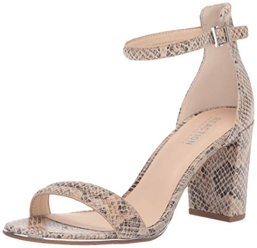 Kenneth Cole REACTION Women's Lolita Strappy Heeled Sandal, Taupe Multi Snake, 7 M US