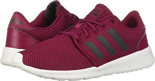 adidas Women's QT Racer Running Shoe, Mystery Ruby/Carbon, 9.5 M US